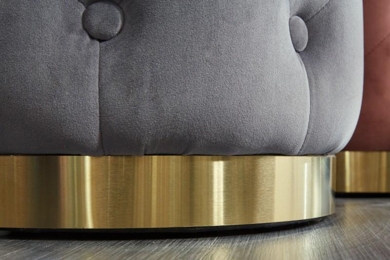 Stolička Modern Baroque Chester, tmavě šedé zlato / 39242