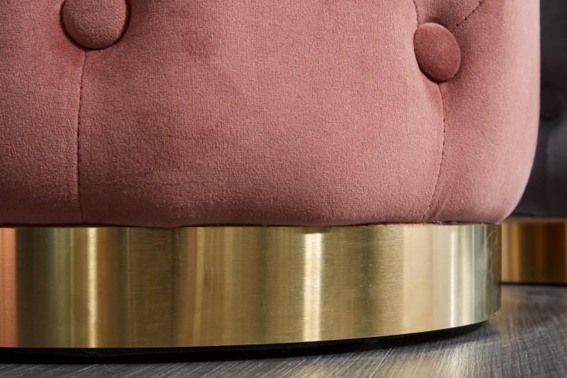 Stool Modern Baroque Chester dusky gold / 39243