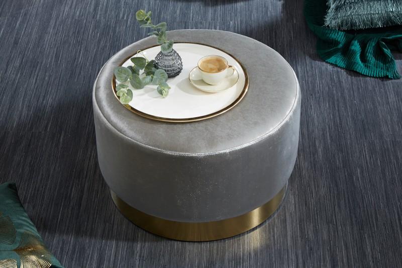 Moderní barokní stolička 55cm stříbrné zlato / 39245