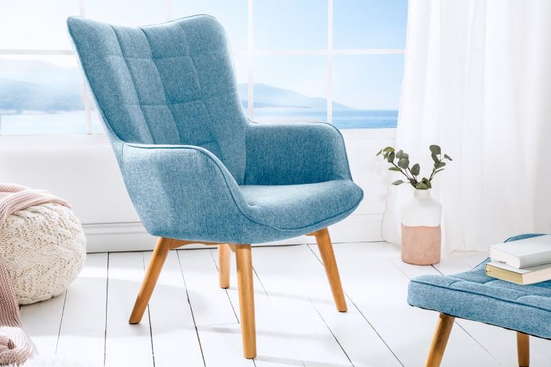 Křeslo Scandinavia - světle modré / 39273