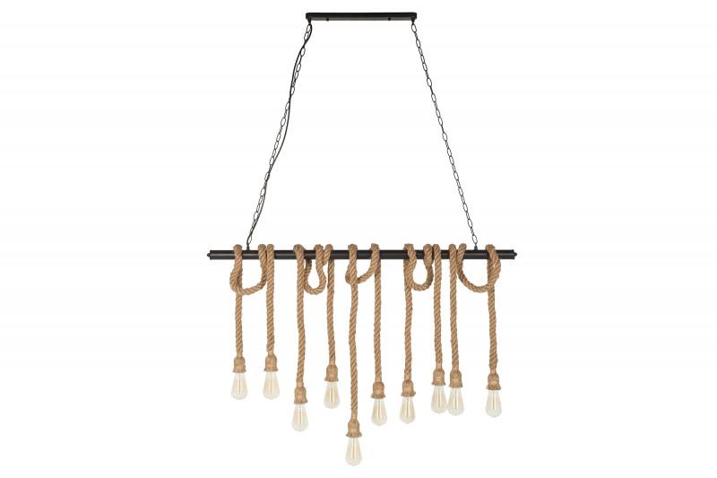 Závěsná lampa Sadie lll - 120cm - přírodní lano  / 39315