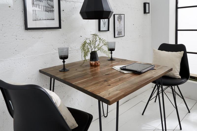 Jídelní stůl Scorpion Retro 80cm x 80cm - hnědý akát / 38885