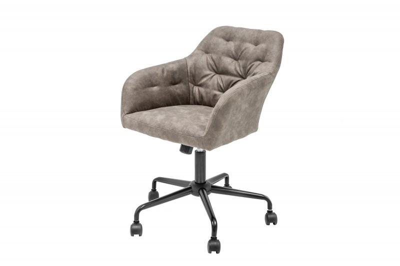 Kancelářská židle Monica - béžová, samet / 39351