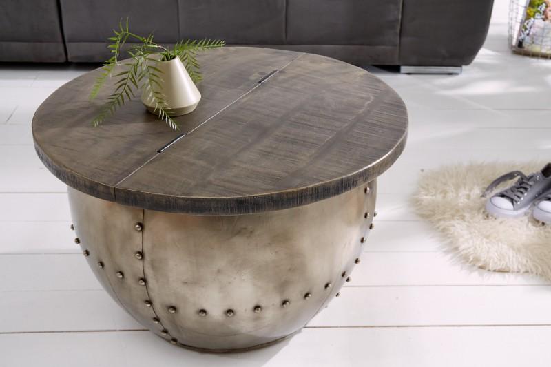 Konferenční stolek Steel Desk 68cm - šedé mango / 38948