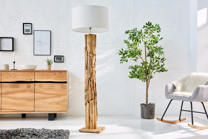 Stojací lampa Roots - naplavené dříví / 22442-1