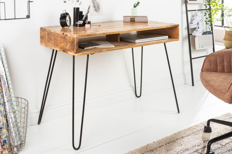 Pracovní stůl Scorpion 100cm x 50cm - přírodní mango / 38945