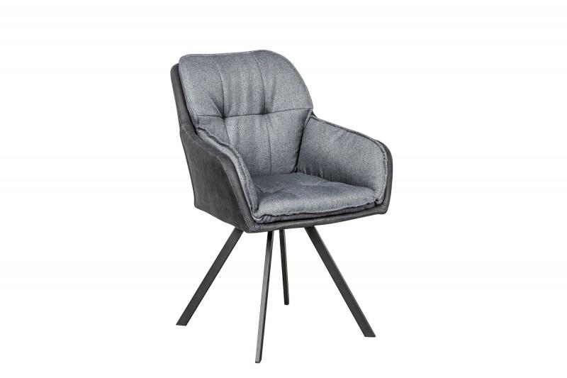 Jídelní židle Orlando - šedá, antracit / 39301 - 4ks skladem