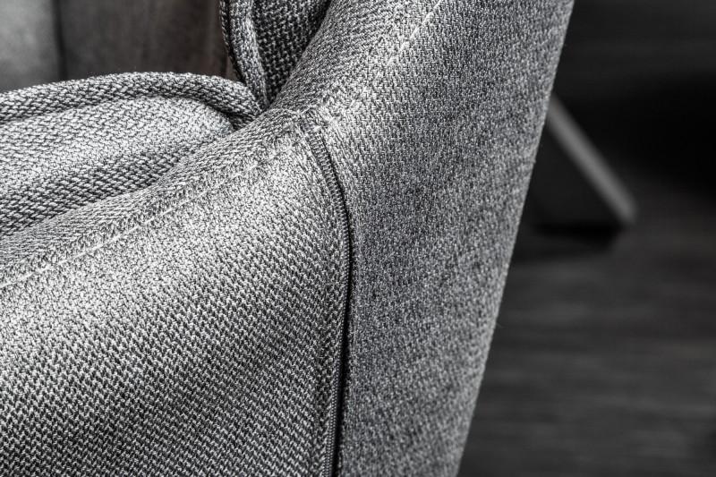 Židle Lounger šedá loketní opěrka / 39352