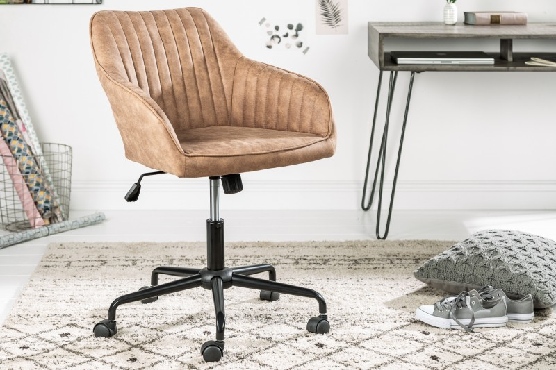 Kancelářská židle Turin - taupe vintage / 39348