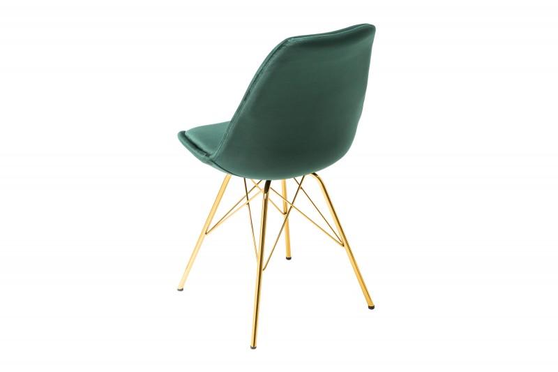 Jídelní židle Scandinavia Gold - smaragdová, samet / 39303 - 1ks skladem / 39303