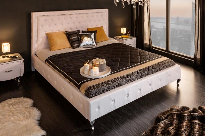 Extravaganční postel 180x200cm bílá / 36678