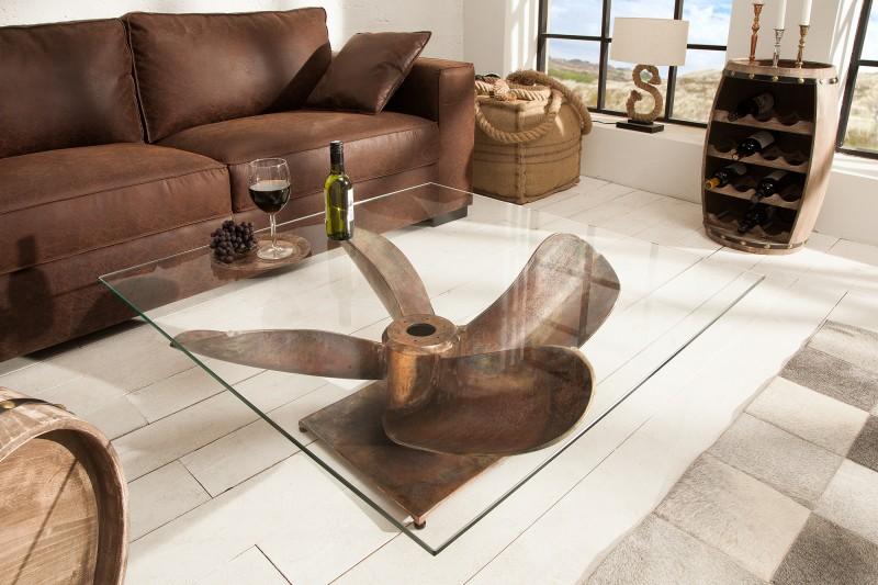Konferenční stolek Screw 60cm x 60cm - měděný / 39255