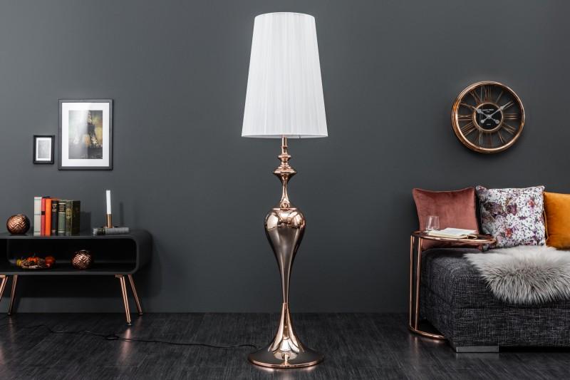 Stojací lampa Mia 160cm - růžové zlato / 38970