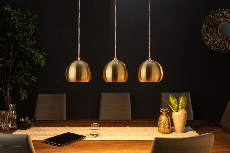 Závěsná lampa Violet 3er - zlatá / 39440