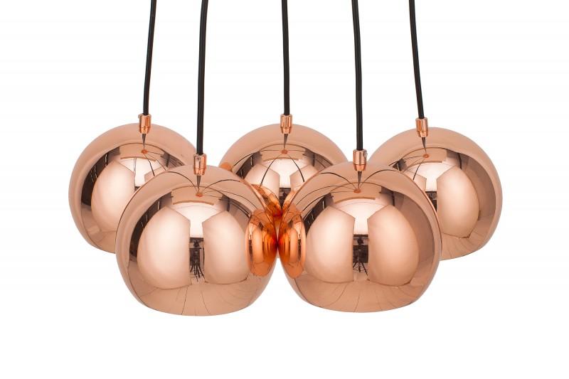 Závěsné světlo Amelia 5er - růžové zlato / 39373