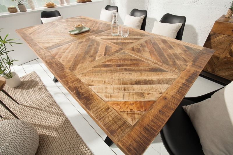 Jídelní stůl Lincoln 160cm x 90cm - přírodní mango / 39286