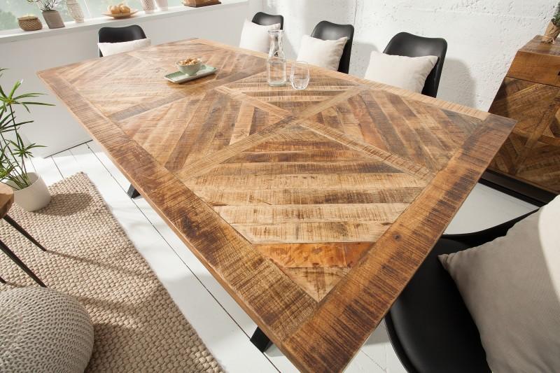 Jídelní stůl Lincoln 200cm x 100cm - přírodní mango / 39288