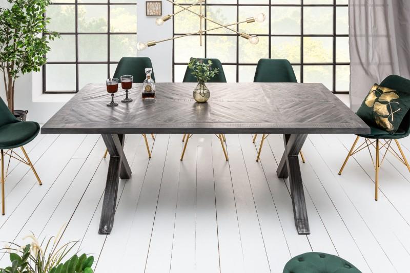 Jídelní stůl Lincoln 160cm x 90cm - šedé mango / 39287
