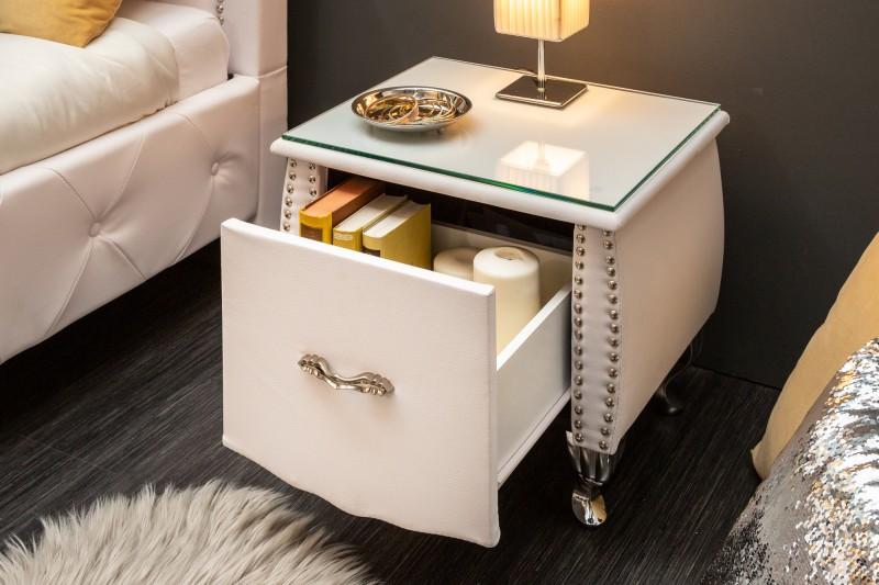 Noční stolek Paradise 47cm x 45cm - bílý / 39355