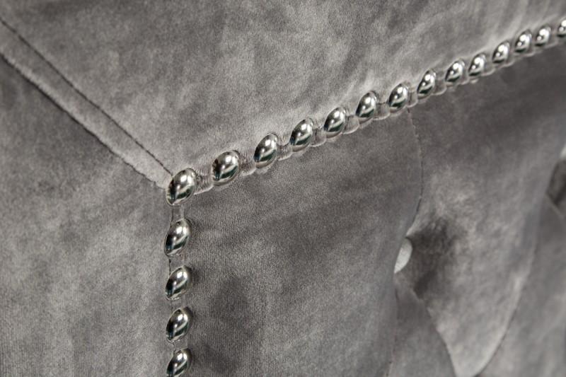 Postel Paradise 160cm x 200cm - stříbrno šedá, samet / 39428