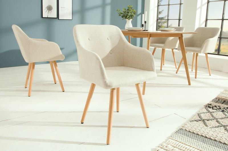 Skandinávská židle přírodní buk / 36824