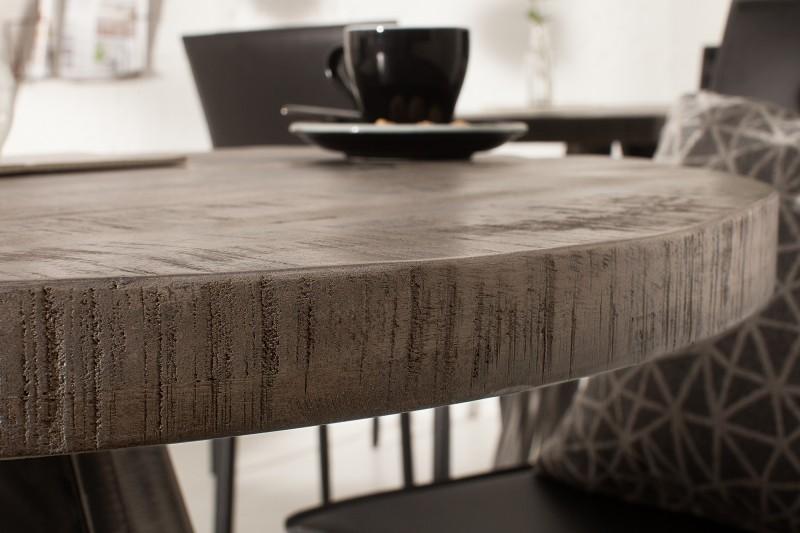 Jídelní stůl Hobart Round 80cm - šedé mango / 39368