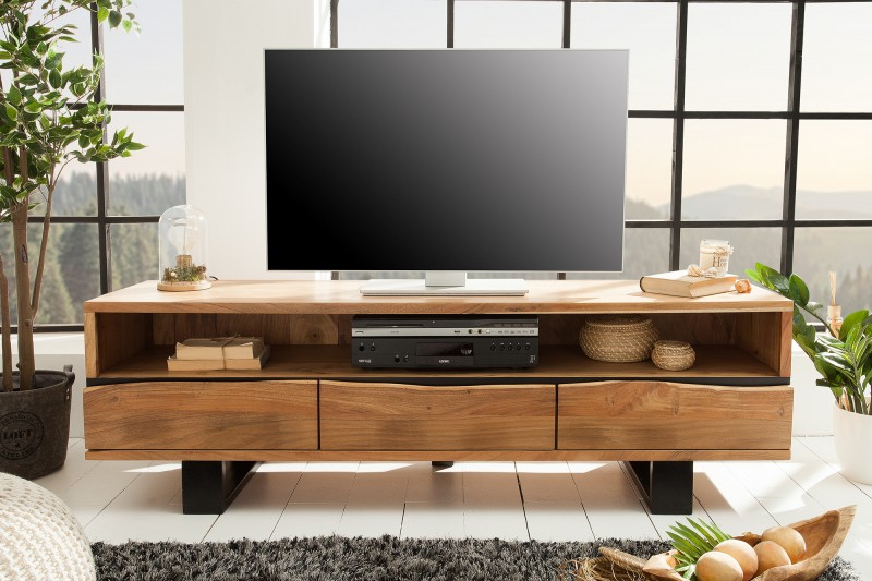Televizní stolek Cascavel 160cm x 50cm - akácie / 39365