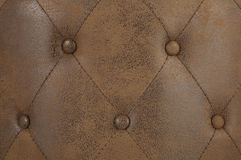 Taburet Chesterfield 60cm - starožitná hnědá / 39424