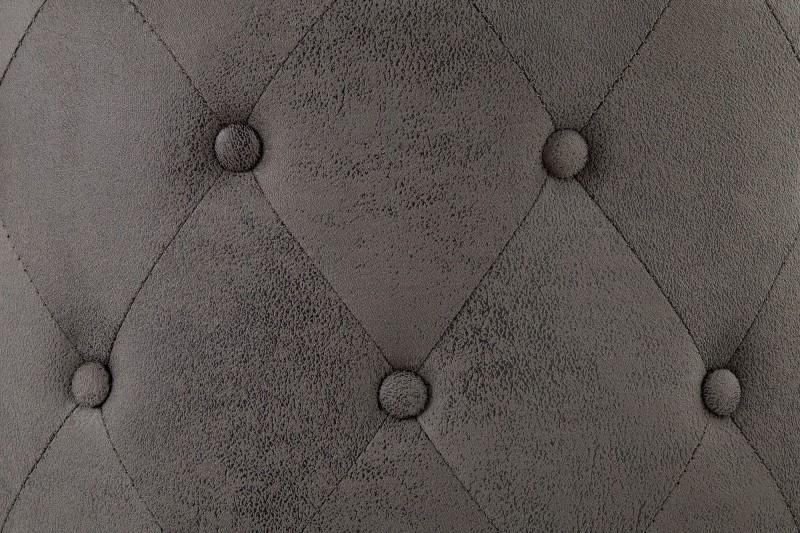 Taburet Chesterfield 60cm - antická šedá / 39425