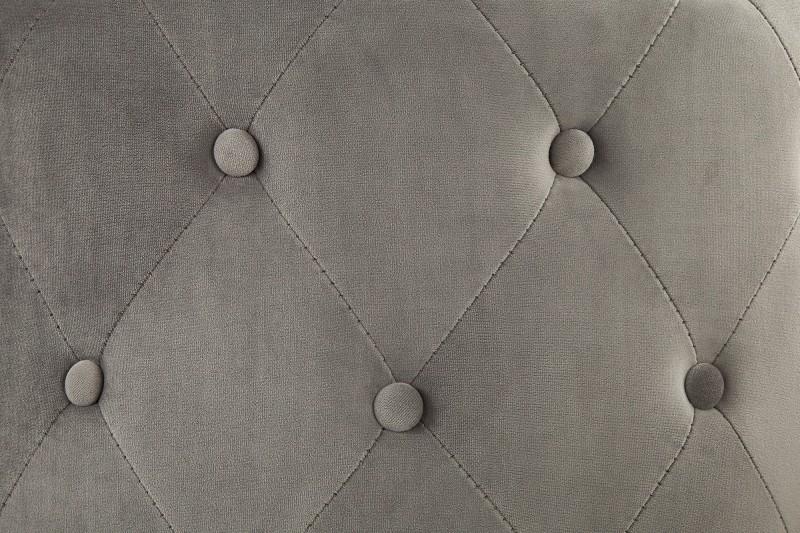 Taburet Chesterfield 60cm stříbrná šedá / 39427