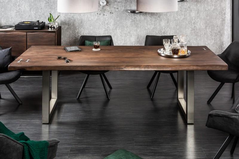 Jídelní stůl Accra Artwork 200cm x 100cm - akát tmavý / 39336