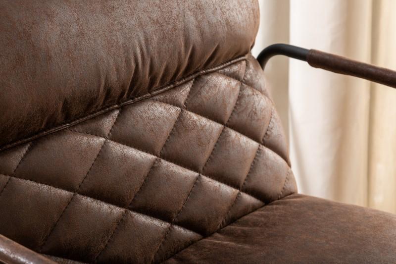 Křeslo Halifax - vintage tmavě hnědé / 39483