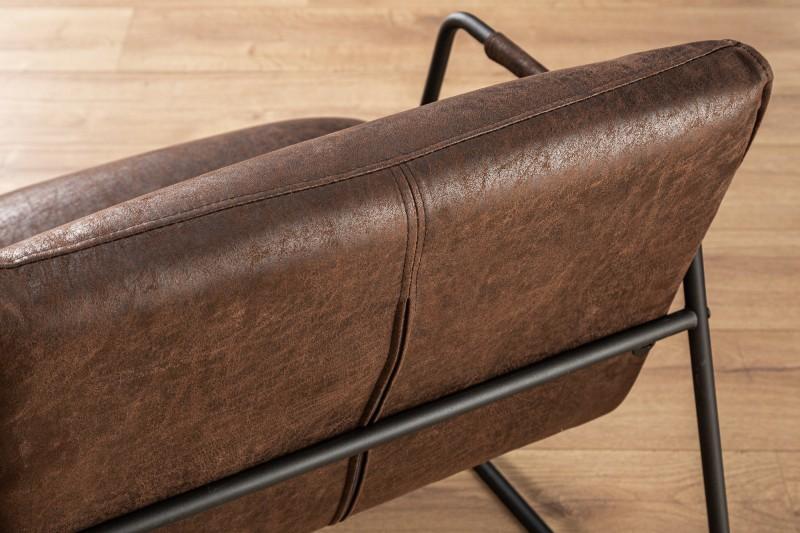 Křeslo Mustang Lounger vintage hnědá / 39483