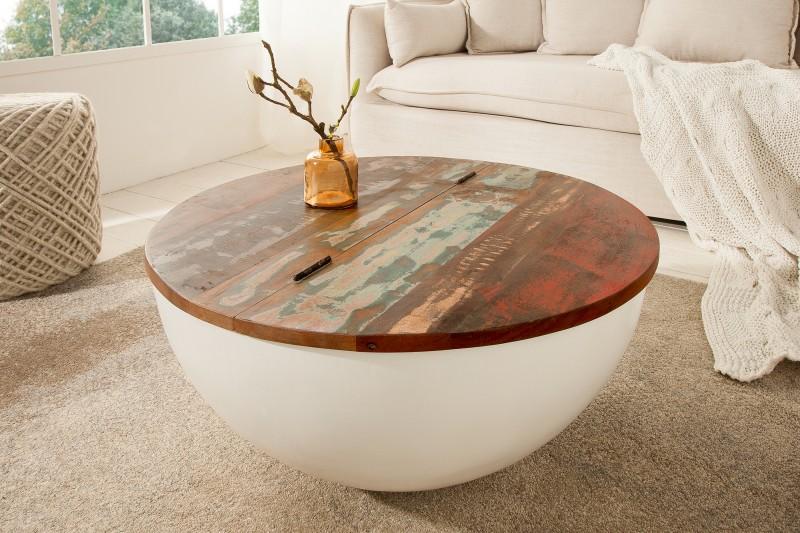 Konferenční stolek Jakarta 70cm - recyklované dřevo / 39180