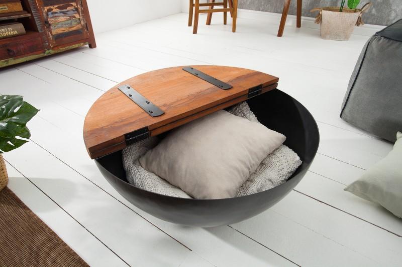 Konferenční stolek Jakarta 70cm - recyklované dřevo / 39311