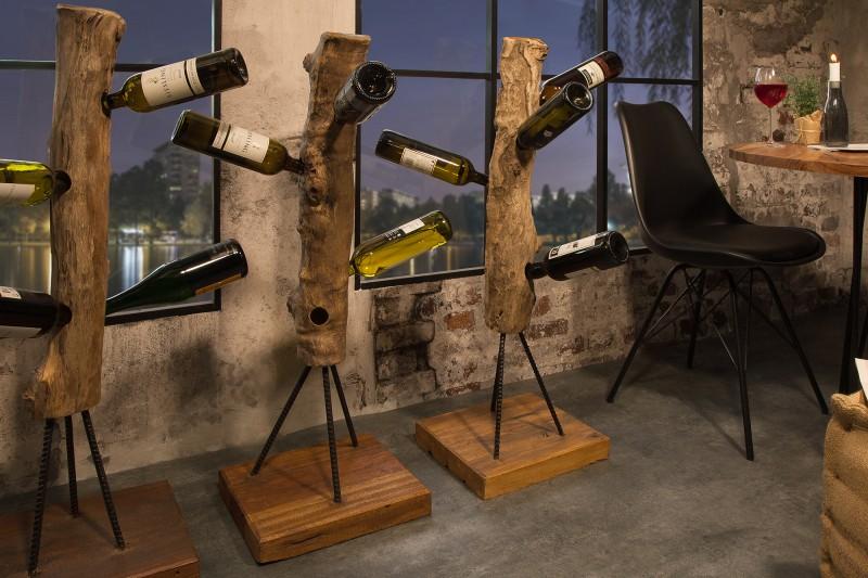 Stojan na víno Hemingway 103cm - teak / 39555