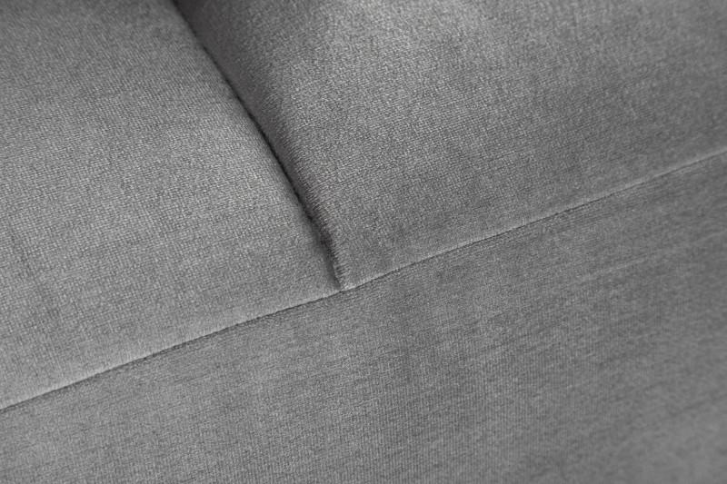 Taburet Elegancia 110cm stříbrno-šedý samet / 39614