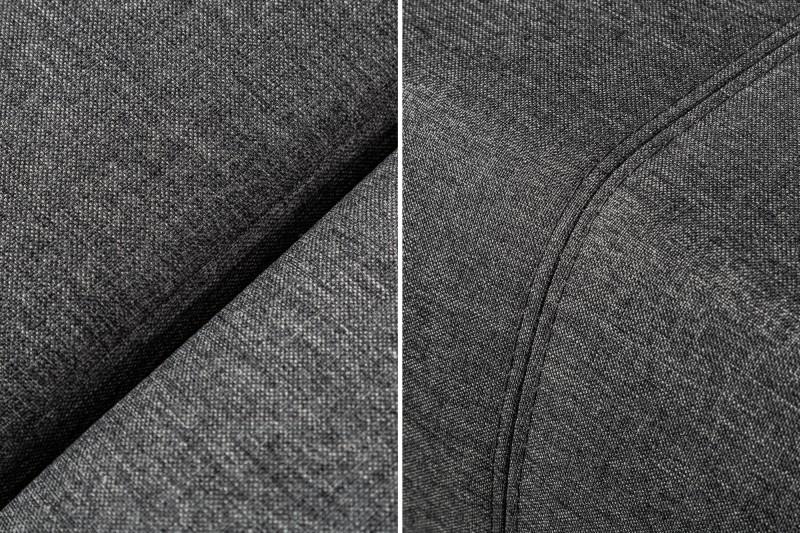 Pohovka rohová Tailors Cut - rozkládací 340cm tmavě šedá / 39615