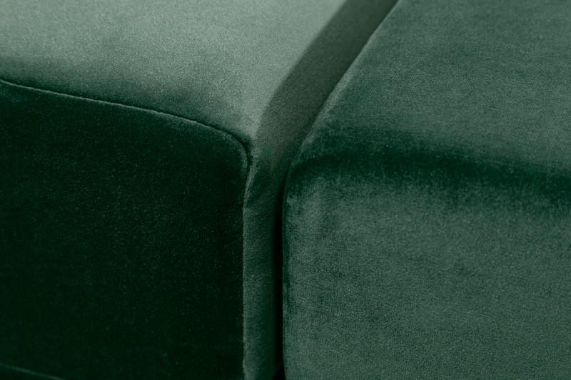 Pohovka Riise 220cm - smaragdová, samet / 39831