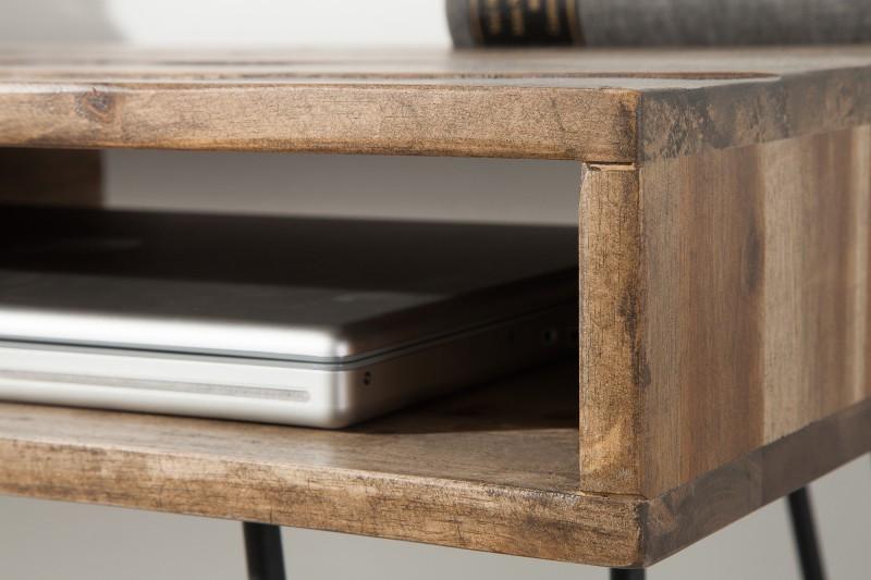 Odkládací stolek Scorpion 110cm x 50cm - akát, šedý  / 38832