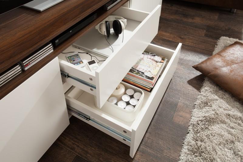 Televizní stolek Loft 180cm bílý ořech / 39450
