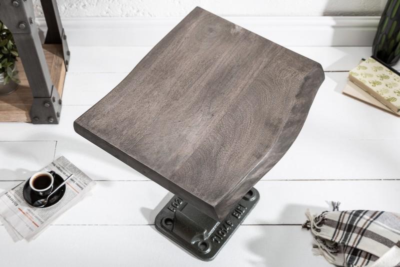 Stolek Mike 43cm - šedý, akát / 39292