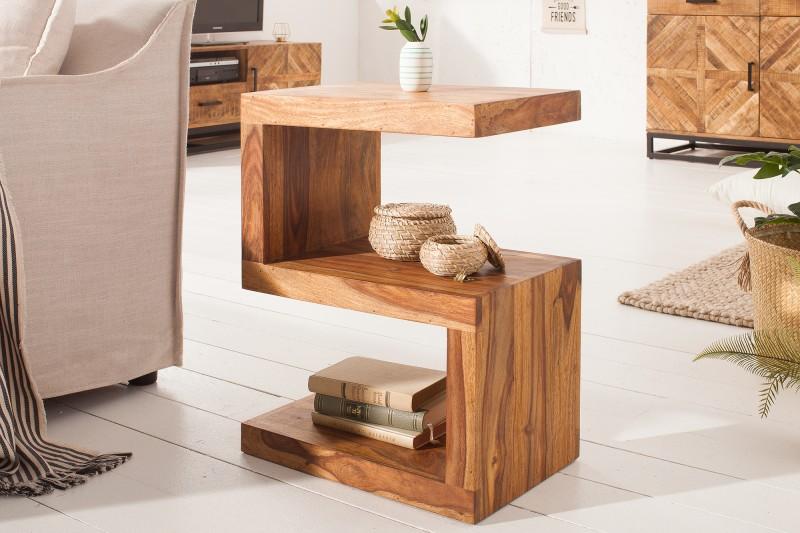 """Konferenční stolek """"S"""" 60cm - Sheesham / 39382"""