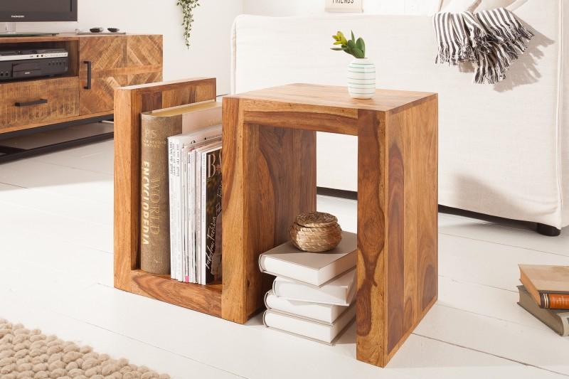 """Konferenční stolek """"S"""" 60cm Sheesham / 39382"""