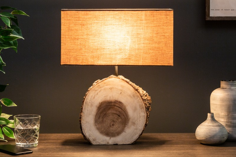 Stolní lampa Pure Nature 46cm ořech / 39619