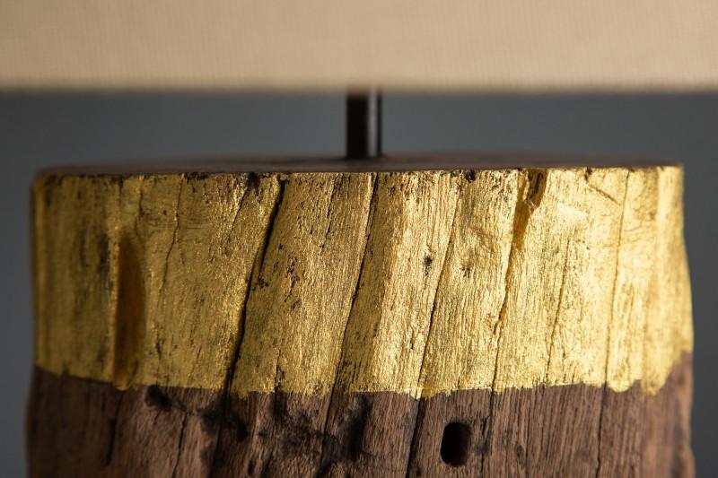 Stolní lampa PureNature 73cm zlaté naplavené dříví / 39623