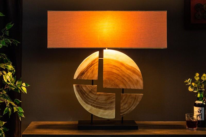 Stolní lampa Organic Living 80cm - ořech / 39624
