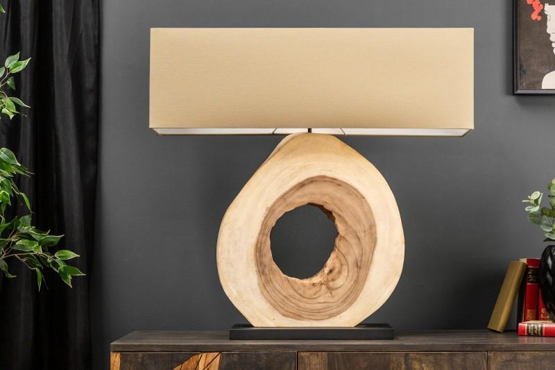 Stolní lampa Organic Artwork 80cm - ořech / 39626