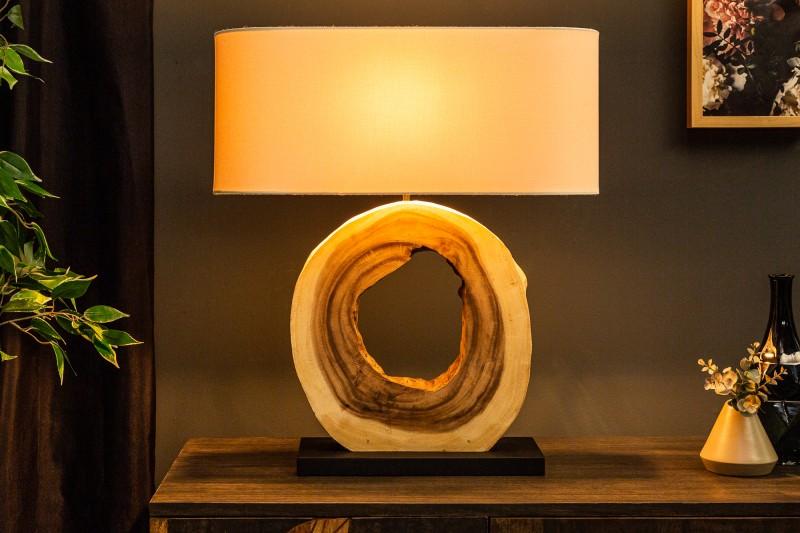 Stolní lampa Organic Artwork 55cm - ořech / 39627