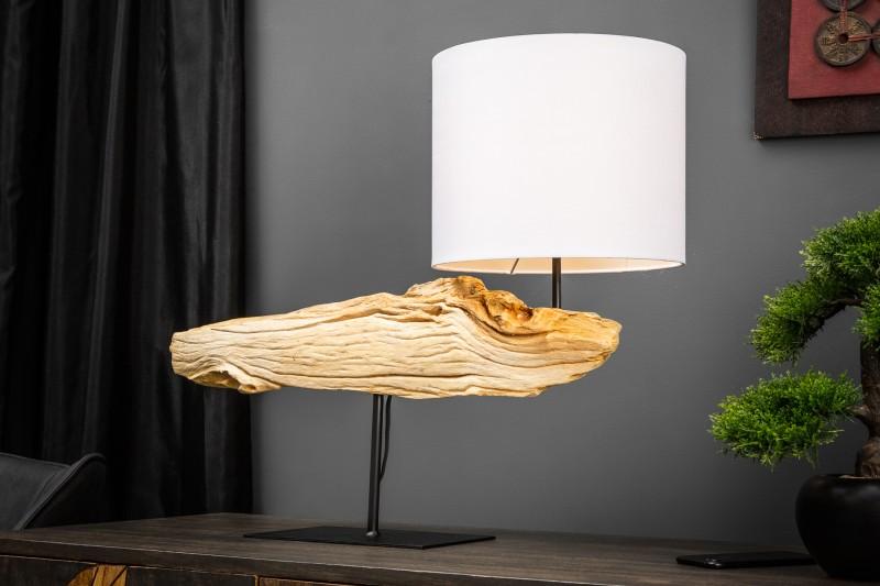 Stolní lampa Organic Artwork 70cm - naplavené dříví / 39628